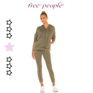 Free People Work It Out Army Hoodie + Jogger Set